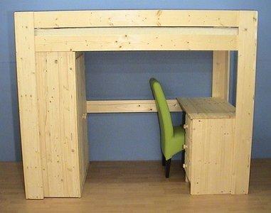 Halfhoogslaper Met Kast : Hoogslaper met kast en bureau houtenhoogslaper